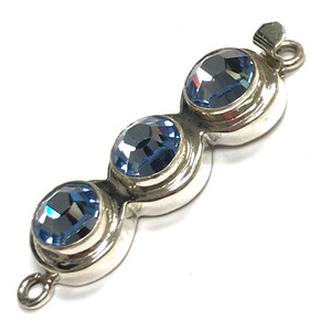 Limited Edition Sterling Silver Swarovski Crystal Clasp-Lt. Sapphire