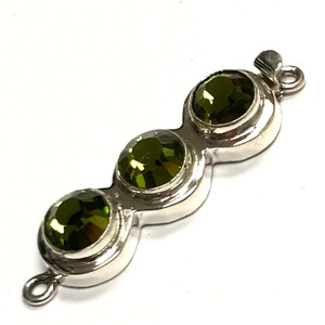 Limited Edition Sterling Silver Swarovski Crystal Clasp-Olivine