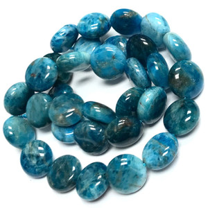 Highly Polished Apatite Dime Beads