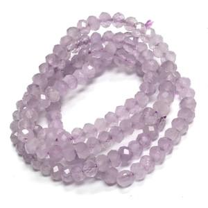 Micro Diamond Cut Lavender Amethyst Rondell Beads