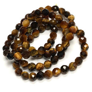 Tiger Eye Micro Diamond Cut Beads