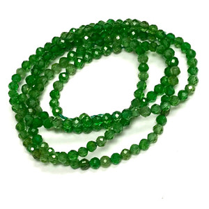 Micro Diamond Cut Chrome Diopside Beads