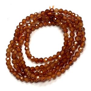 Micro Cut Hessonite Garnet Beads