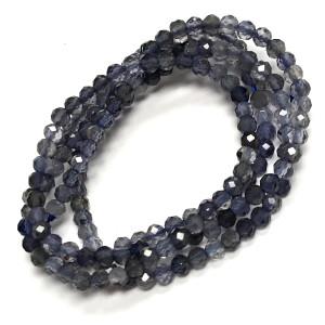 Micro Diamond Cut Iolite Beads