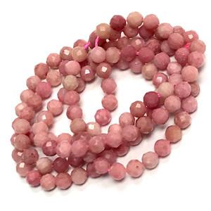 Micro Diamond Cut Rhodochrosite Beads