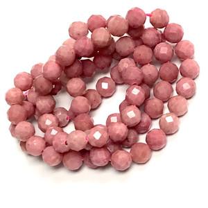 Rhodonite Micro Diamond Cut  Beads