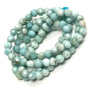 Micro Diamond Cut Larimar Beads
