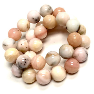 Highly Polished Pink Peruvian Opal Round Beads-12mm