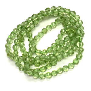 AA Grade-Peridot Smooth Round Beads