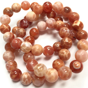 Fire Agate - Round Beads