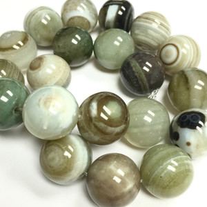 Line Agate - Light Green Tones