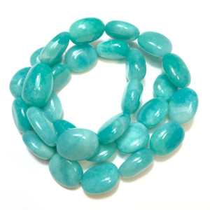 Amazonite Tumbled Nugget Beads 12 x 12 x 6mm