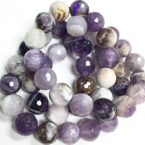 Fun Grade Amethyst Faceted Beads 8mm