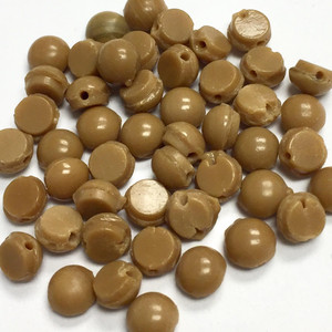 Antique Czech Wheat Domed Nailhead Beads 4mm