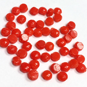 Antique Czech Nailhead Beads Tiny Red - 3.5mm