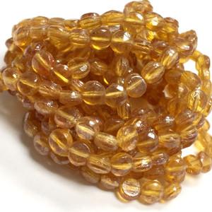 Antique Golden Treasure Nailhead Beads 4mm