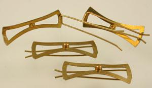 Vintage Brass Barrettes