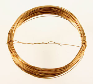 Vintage Brass Wire with Patina
