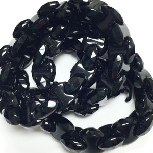 Black Agate Friendship Forever Beads