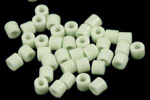 "Vintage Czech ""Just a Hint of Mint"" Scinter Glass Tile Beads"