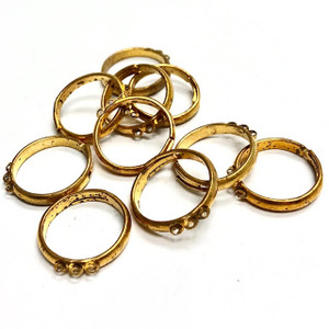 Vintage Gold Toned Adjustable Ring with 3 Loops