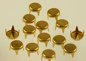 Vintage Round Prong Back Brass Brads-6mm