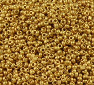 Charlotte Seed Beads - 15/0 24K Brushed Gold