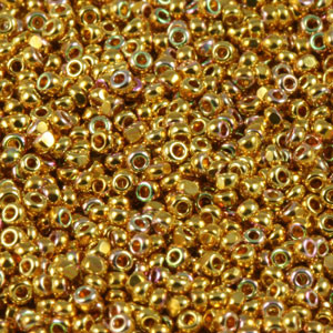 Charlotte Seed Beads - 15/0 24K Gold AB