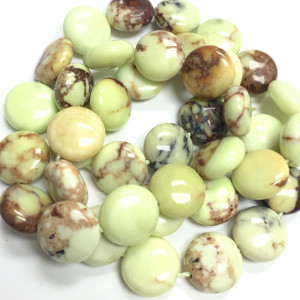 Magnesite Chrysoprase Flat Dime Beads