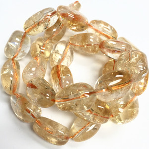 Citine Polished Nugget Beads