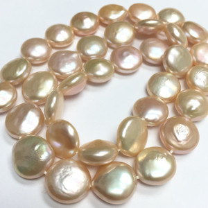 Peach Coin Pearls-11-12mm