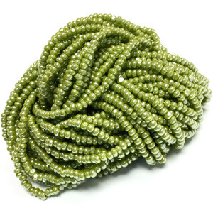 Charlotte Glass Seed Beads - Size 11/0 Olive Jade Luster