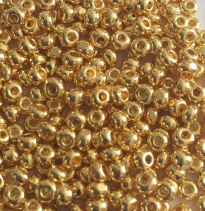 Rare 24K Gold Plated Charlotte Seed Beads Size-8/0
