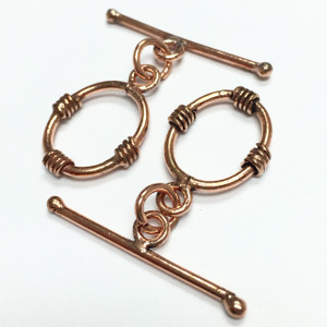 Copper Coiled Toggle Sets