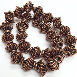 Antiqued  Copper Bead Caps - 7 x 3.5mm