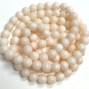 Natural Blush Pink Coral Rounds 4mm