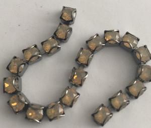 Swarovski Crystal Gunmetal CATCH-FREE Cup Chain - Sand Opal- 24pp