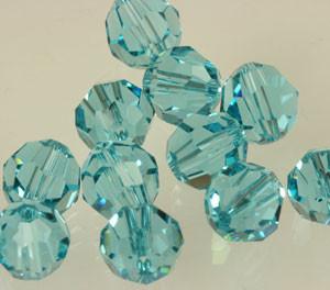 Swarovski Crystalized Beads Art # 5000 Lt. Turquoise - 8mm