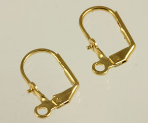 Vintage Gold Toned Leverbacks with a Peg