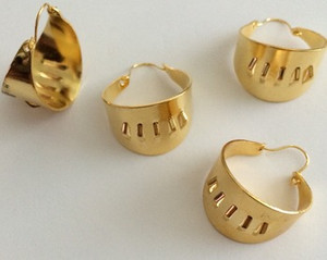 Vintage Hoop  Earrings for Attaching and Embellishing