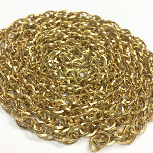 Vintage Gold Plated Rope Chain with Texture