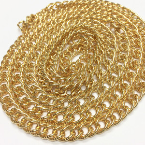 Vintage Touch of Class Gold Toned Double Link Curb Chain