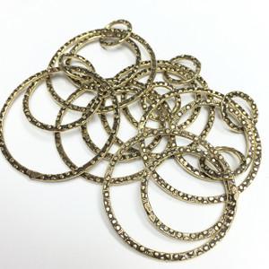 Antiqued Brass Hoop Rings Dangle Sets for Earrings
