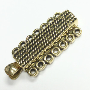 Brass 7 Strand Chain Maille Slider Bar Clasp-13 x 25mm