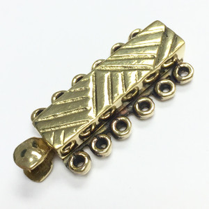 Brass Tribal 6 Strand Slider Bar Clasp