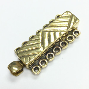 Brass Tribal 7 Strand Slider Bar Clasp
