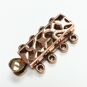 Copper Filigree Top 4 Strand Bar Clasp
