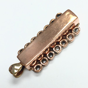 Copper 7 Strand Slider Bar Clasp