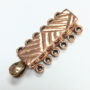 Copper Tribal 6 Strand Slider Bar Clasp