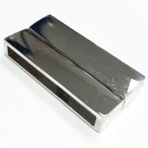 Platinum Magnetic Clasp 37 x 19 x 7mm